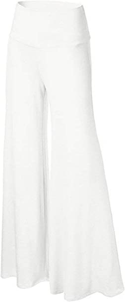 Mieuid Mujer Falda Pantalon Largo Elegantes Unicolor Cintura Alta ...