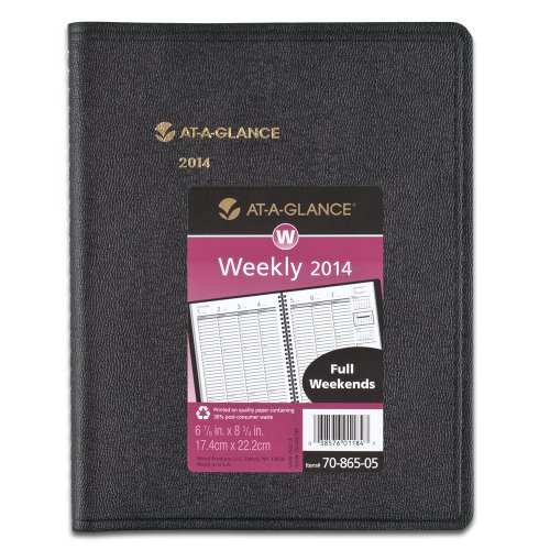 AT-A-GLANCE 2014 Weekly Appointment Book, 7.48 x 9.13 x .63 Inches (70-865-05)