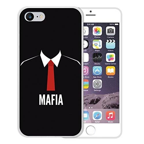 WoowCase Hülle Case für [ iPhone 7 ] Handy Cover Schutzhülle Mafia rote Krawatte