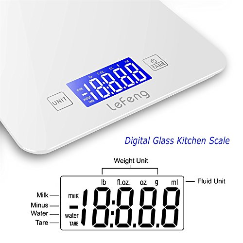 Lefeng digital kitchen scale baking food scales grams for for Kitchen scale for baking
