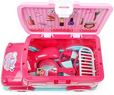 子ども知育玩具 女の子女の子メイクアップセットキッズメイクアップキットを含むための繊細なごっこメイクアップ 家族と親子関係を強化する (色 : ピンク, Size : 30x15x16.5cm)