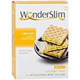 #3: WonderSlim Weight Loss Meal Replacement Wafer Bar - High Protein, Trans Fat Free, Aspartame Free, Cholesterol Free - Lemon, 1 Box (5 ct)