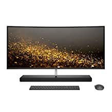 "Hewlett Packard Z5L85AA#ABA HP Envy 34"" Curved All-in-One Computer, Intel Core i7-7700T, 16GB Ram, 1TB Hard Drive, 256GB SSD, Windows 10 (34-b010, Silver)"