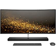 HP ENVY 34-inch Curved All-in-One Computer, Intel Core i7-7700T Processor, AMD Radeon RX 460 4 GB, 16 GB RAM, 1 TB hard drive, 256 GB SSD, Windows 10 Home (34-b010, Silver)