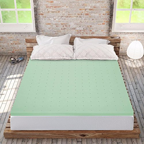 Best Price Mattress Twin XL Mattress Topper - 2 Inch Memory Foam Bed Topper with Green Tea Cooling Mattress Pad, Twin Extra Long Size