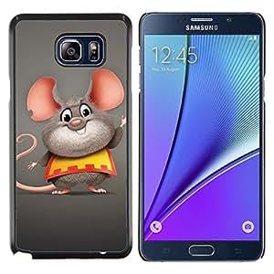EJOOY---Cubierta de la caja de protección para la piel dura ** Samsung Galaxy Note 5 5th N9200 ** --Ratón feliz grasa