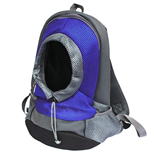 Alfie Pet by Petoga Couture - Kenya Pet Backpack Carrier with Adjustable Strap - Color: Blue, Size: Small