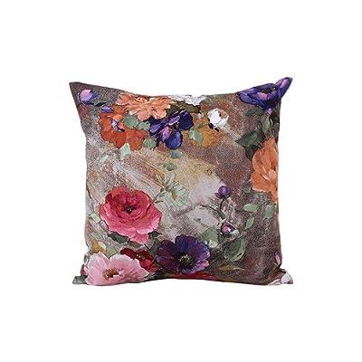 FairyTeller Cheap Flowers Cushion Cover Linen Throw Pillow Case Sofa Covers Home Decor It6601