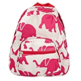 Patterned Design Polyester 11 inch Elementary Preschool Backpack (Elephant)