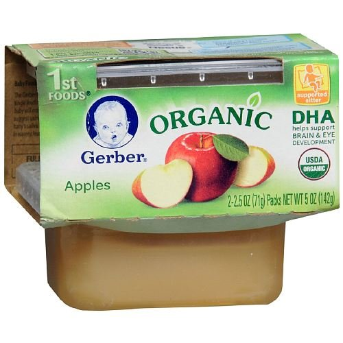 Gerber Organic 1st Foods For Babies 2 ea (Apples, Double Pack)