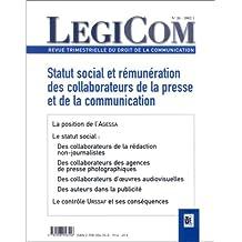 Revue Legicom, no 26: Statut social et rémunération des colla-