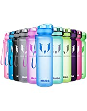 MAIGG Best Sports WasserFlasche Trinkflasche - 500ml & 1000ml - Eco Friendly & BPA-freiem Kunststoff - für das Laufen,Fitness,Yoga - Schnelle Wasserdurchfluss,öffnet Sich mit 1-Click