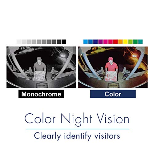 Panasonic HomeHawk Outdoor Wireless Smart Home Security Camera Wide Angle view Color Night Vision