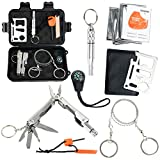 YaeTact Survival Kit,Outdoor Emergency Gear Kit for Camping Hiking Travelling or Adventures