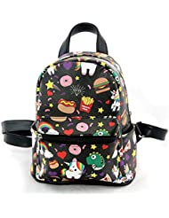 Sleepyville Critters - Unicorn and Junkfood Collage Mini Backpack