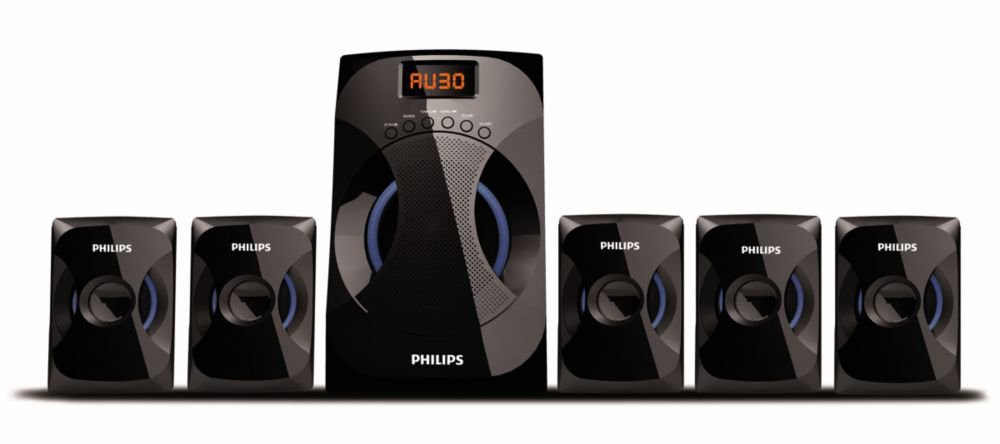 Buy Philips SPA4040B/94 Multimedia Speakers System (Black) Home Audio