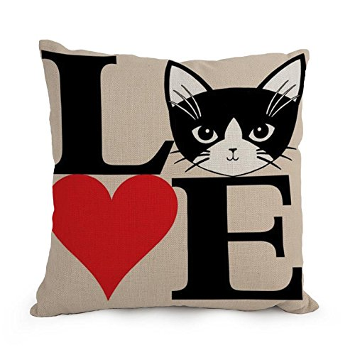 [Uloveme Cat Throw Cushion Covers 12 X 20 Inches / 30 By 50 Cm Gift Or Decor For Kitchen,couch,husband,birthday,son,kids Girls - Twin] (Bull Rider Costume Toddler)