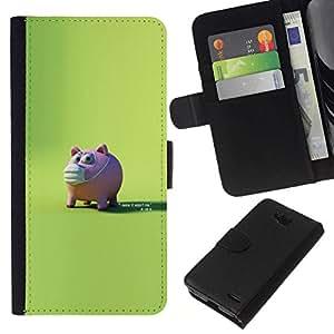 All Phone Most Case / Oferta Especial Cáscara Funda de cuero Monedero Cubierta de proteccion Caso / Wallet Case for LG OPTIMUS L90 // Scared pig