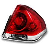 Chevy Impala Replacement Red Clear Tail Light Passenger Right Side Rear Brake Lamps