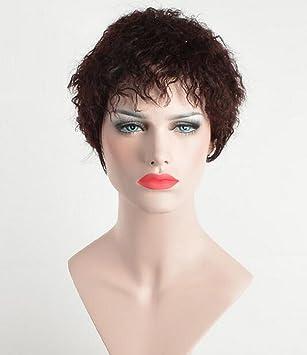 Pelucas de cabello reales Europa y los Estados Unidos cabello corto de moda Bobo cabeza de