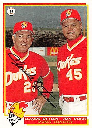 Claude Osteen Autographed Baseball Card Minor League