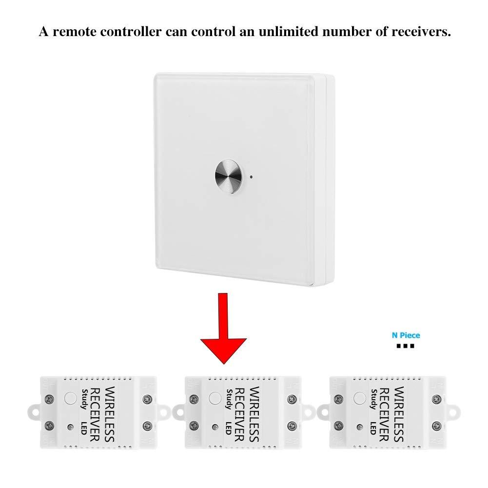 Negro Interruptor de control remoto inteligente wifi de 1 v/ía interruptor de pared t/áctil remoto interruptor de pantalla t/áctil interruptor de control de voz para Alexa Google Home SIRI