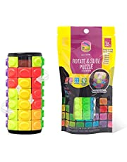 R.Y.TOYS Easter Basket Stuffers,Fidget Toys for Adults/Teens/Boys/Girls,Rotate & Slide Puzzle,Brain Teaser,Cylinder Magic Cube Gift,Birthday Present