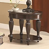 Coaster 703847 Home Furnishings End Table, Dark Merlot