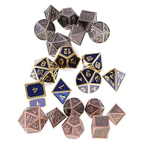 Homyl 21x Polyhedral Digital Dice Set D4-D20 Dies for TRPG MTG DND Card Game Toys by Homyl