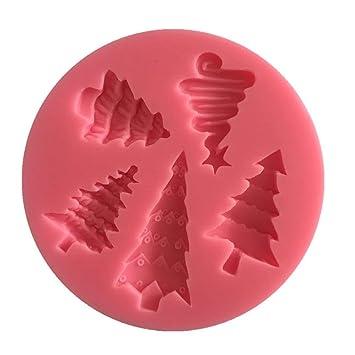Árbol de Navidad Torta de la Pasta de Silicona del Molde Helado de la Galleta Galletas Molde del Caramelo de Chocolate decoración de la Torta de la hornada ...