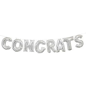 Amazon foil silver congrats letter balloon banner kit foil silver congrats letter balloon banner kit thecheapjerseys Choice Image