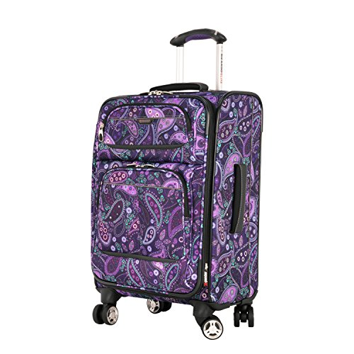 Ricardo Beverly Hills Mar Vista 20-Inch 4 Wheel Expandable Wheelaboard, Purple Paisley, One (4 Wheel Carry On)