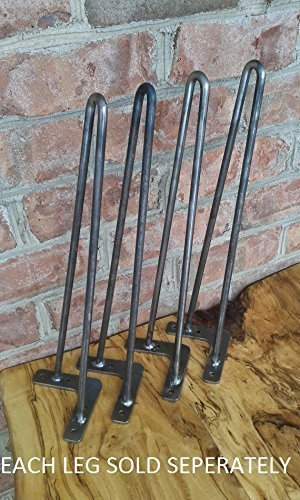 Raw 14 Inch Steel Hairpin Legs – EACH LEG SOLD SEPERATELY For Sale