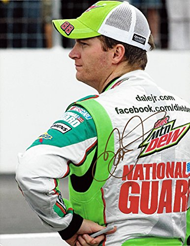 Dale Earnhardt Photo - AUTOGRAPHED 2012 Dale Earnhardt Jr. #88 Diet Mountain Dew Racing (Hendrick Motorsports) Pre-Race Pit Road 9X11 Inch Signed Picture NASCAR Glossy Photo with COA