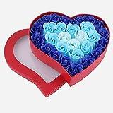 eDealMax Día de San Valentín del corazón en Forma de Regalo 28pcs caja de la Flor