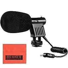 Mini Zoom Video Camera Shotgun Microphone for Canon Digital EOS Rebel SL1, T3i, T4i, T5i, T6i, T6s, EOS 60D, EOS 70D, EOS 5D, EOS 5Ds, EOS 5D Mark III, EOS 6D, EOS 7D, EOS 7D Mark II, EOS-M, EOS-M3 Digital SLR Cameras