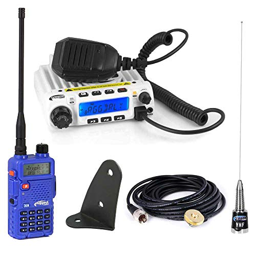 (Rugged Radios Jeep Starter Kit with RM60 60 Watt VHF Two Way Mobile Radio and RH5R 5 Watt Dual Band Handheld Radio Including Coax Cable, Antenna and Antenna Mount)