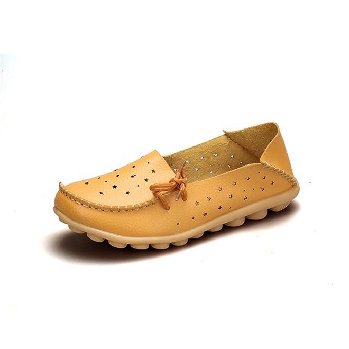 Bridfa Zapatos de cuero genuino Mujer Zapatos de mujer Zapatos Mocasines Slip On Zapatos planos de mujer Mocasines Zapato de ballet: Amazon.es: Ropa y ...