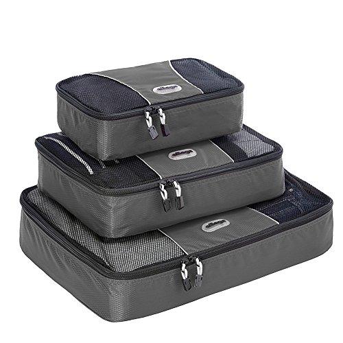 eBags Packing Cubes - 3pc Set (Titanium)...