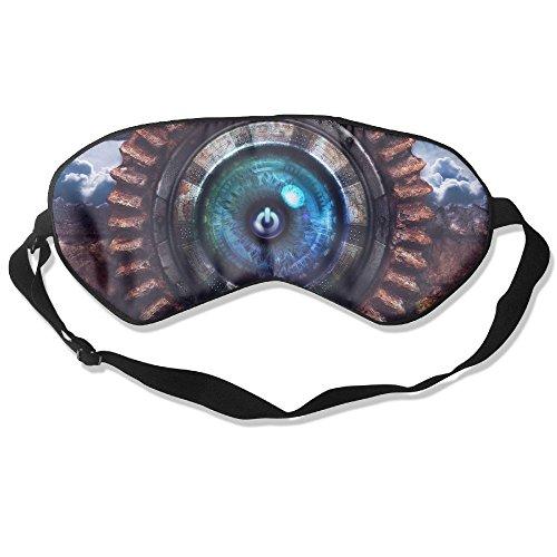Silk Sleeping Masks Shutdown Sign Symbol Eyepatch Eye Masks Adjustable Sleeping Eye Shade ()