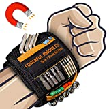 Tools For Men Magnetic Wristband, Gifts for Men Magnetic Tool Belt Super Strong Magnets Wrist Tool Holder with Powerful Magnets for Holding Screws,Nails,Drill Bits,DIY Handyman
