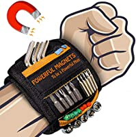 Magnetic Wristband Best DIY Dad Gifts- Gifts Tool for Men Magnetic Tool Wristband with Powerful Magnets, Father Carpenter...