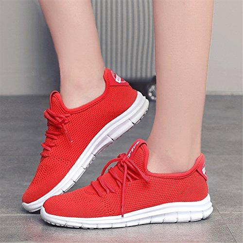 Sneaker Femmes Léger 073 Chaussures Pour Sport Respirant Mode Casual Red Athlétique Hommes xgf0qrg4w