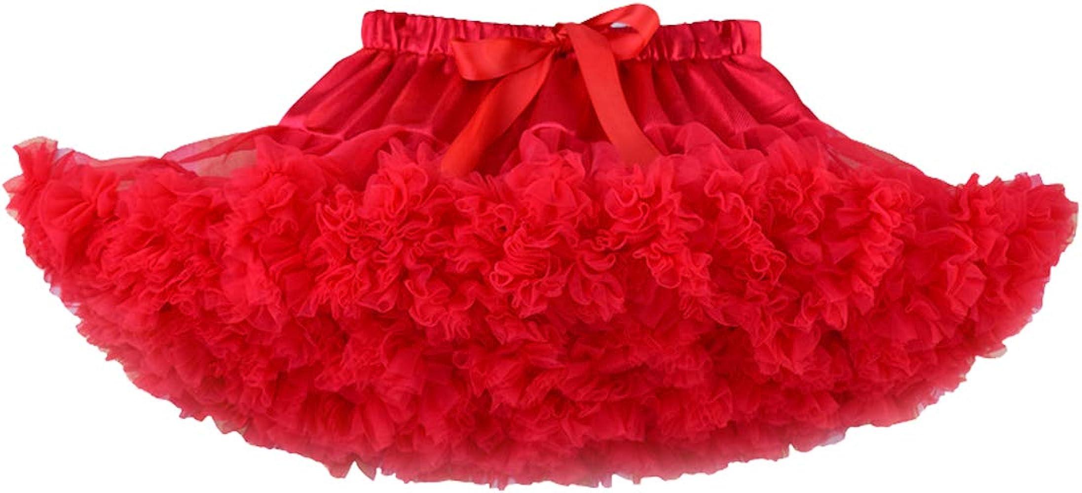 DoGeek Tutu Falda de Capas de Volantes Falda de Tul de Petticoat ...