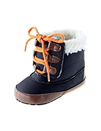 Kuner Baby Boys Girls Plush Soft Bottom Non-slip Warm Boots First Walking Shoes