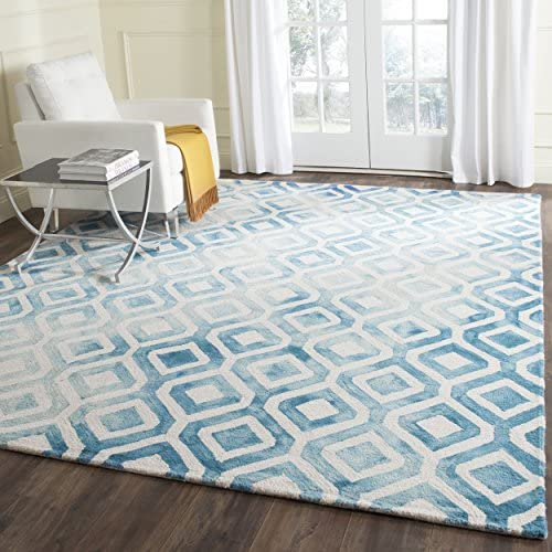 Safavieh Dip Dye Collection DDY679A Ivory and Blue Area Rug, 9 x 12
