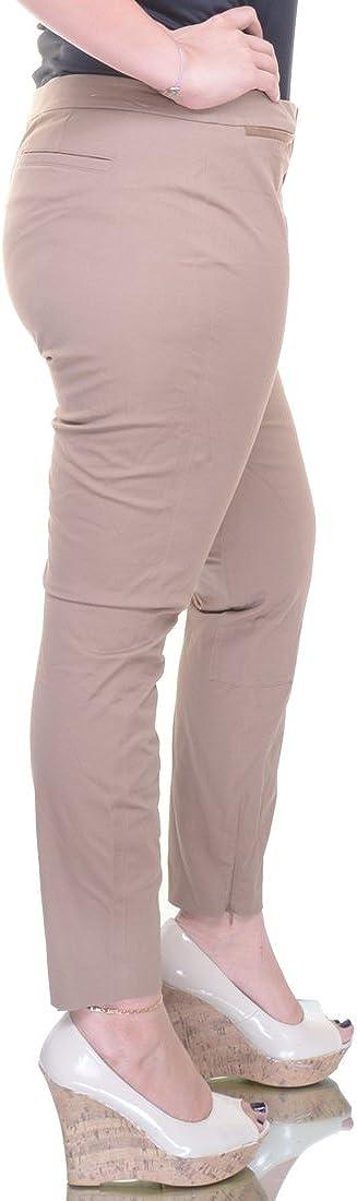 Lauren Ralph Lauren Women/'s Faux Suede-Trim Welt Pocket Pants