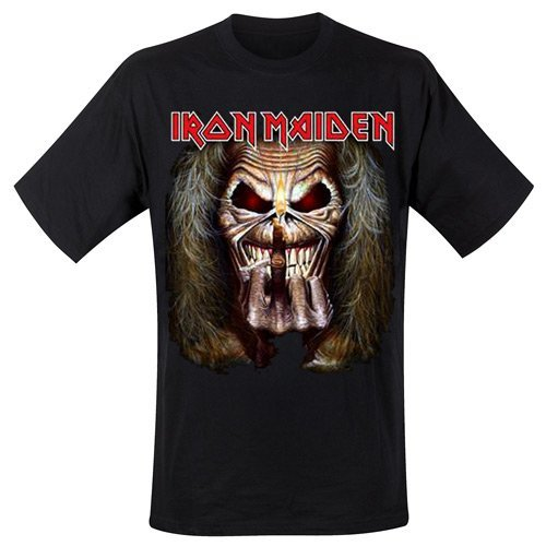 Amazon.com: Rock Off Mens Iron Maiden Eddie Candle Finger T-Shirt XX-Large Black: Clothing