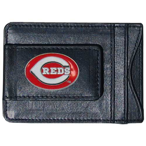 Siskiyou MLB Cincinnati Reds Leather Cash and Card Holder