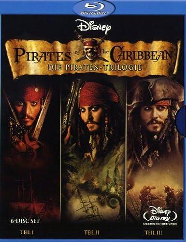 Pirates Of The Caribbean Die Piraten Trilogie 6 Blu Rays Blu Ray Amazon De Depp Johnny Rush Geoffrey Knightley Keira Bloom Orlando Verbinski Gore Depp Johnny Rush Geoffrey Dvd Blu Ray